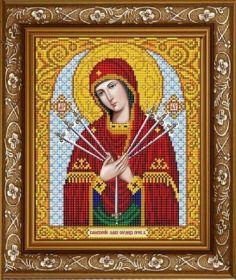 ИС-4017 Славяночка. Пресвятая Богородица Умягчение Злых Сердец. А4 (набор 850 рублей)
