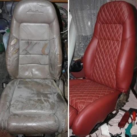 Замена цвета кожаных сидений авто
