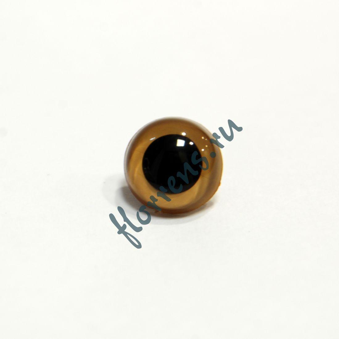 Глаза кристальные пришивные 10,5 мм / бежевый