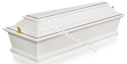 Гроб детский 4-х гранный серия ангелочек ФД-4Б белый