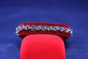 Позолоченный браслет с искусственными сапфирами (арт. 800240)