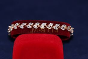 Позолоченный браслет с искусственными бриллиантами (арт. 800242)