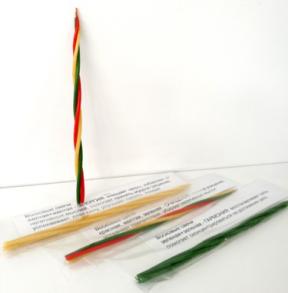 Избавление от негативных мыслей Свеча Скрутка из 4-х свечей 21 см