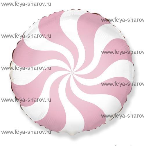 Шар Леденец бледно-розовый 46 см
