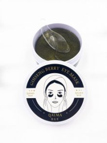 Гидрогелевые патчи QALMA Ginseng Berry Eye Mask Black Pearl