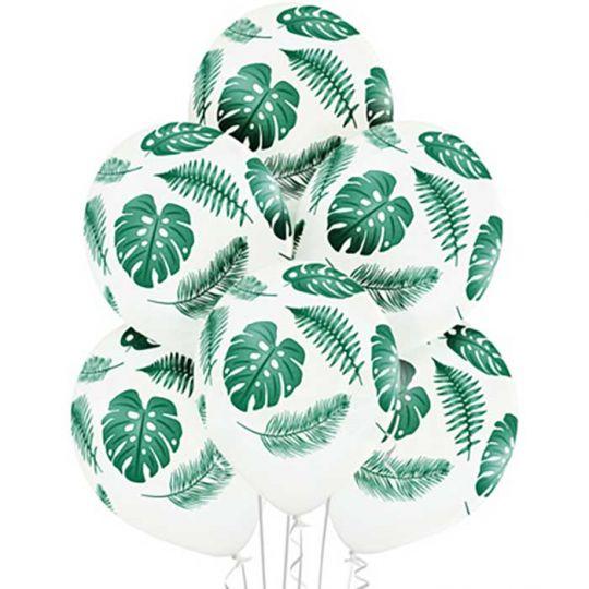 Лист тропический латексные шары с гелием