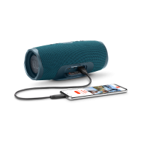 Оригинальная портативная bluetooth колонка JBL Charge 4 синяя - купить в Москве в интернет магазине аксессуаров для смартфонов ELite-Case.ru