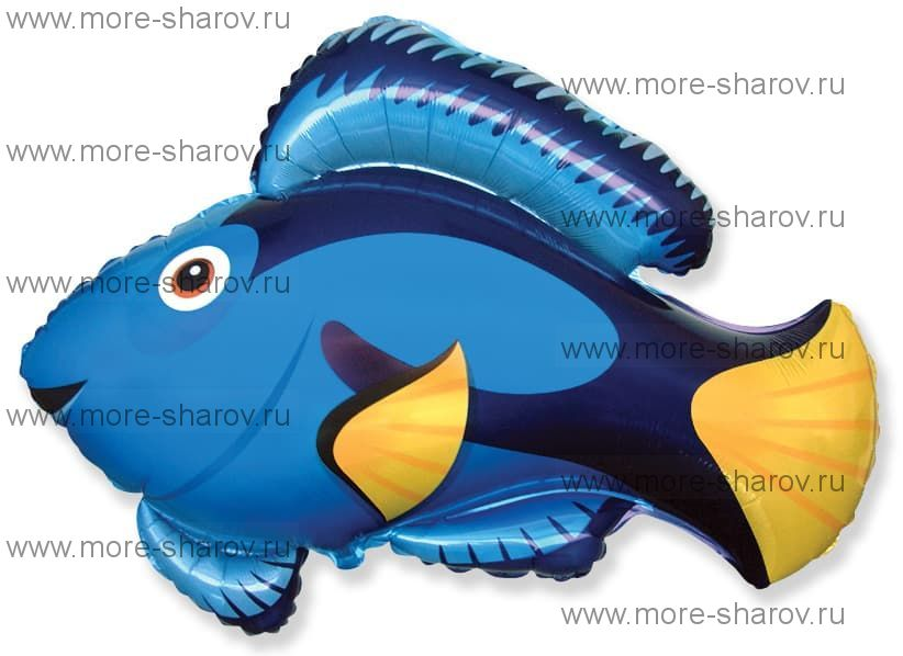 Шар рыба голубой 56 см