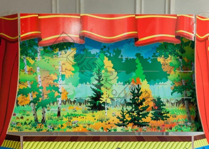Экран для кукольного театра зима-осень