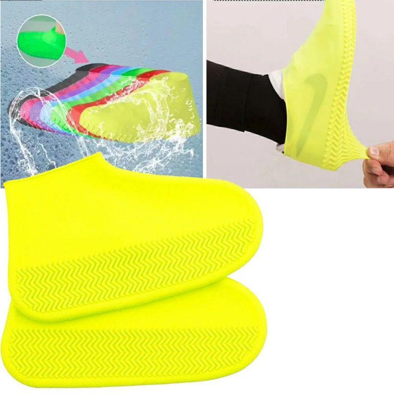 Водонепроницаемые Защитные Чехлы для Обуви Waterproof Silicone Shoe Cover, Размер L, Цвет Желтый