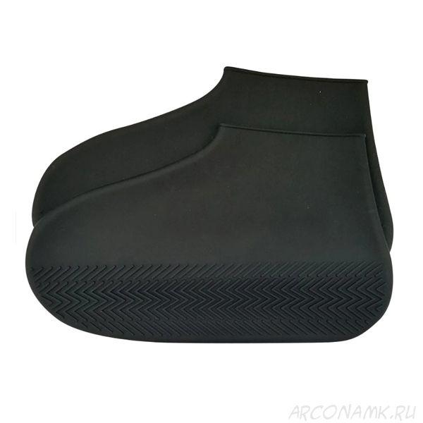 Водонепроницаемые защитные чехлы для обуви Waterproof Silicone Shoe Cover, размер L, Цвет: Чёрный