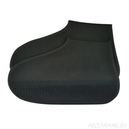 Водонепроницаемые защитные чехлы для обуви Waterproof Silicone Shoe Cover, размер M, Цвет: Чёрный