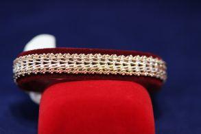 Позолоченный браслет с оригинальным плетением (арт. 880106)
