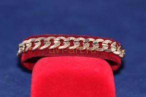 Позолоченный браслет с гравированным орнаментом (арт. 880107)