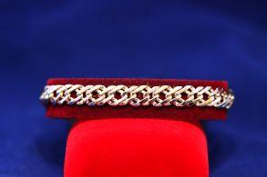 """Позолоченный браслет """"Двойной ромб"""", 8 мм (арт. 880109)"""