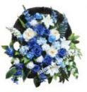 Ритуальная корзина из искусственных цветов N21, РАЗМЕР 60см, 80см,90 см