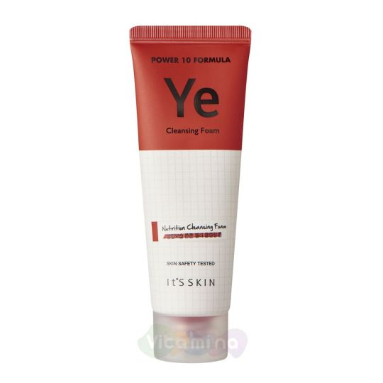 It's Skin Питательная пенка с дрожжевыми полипептидами Power 10 Formula Ye Cleansing Foam, 120 мл