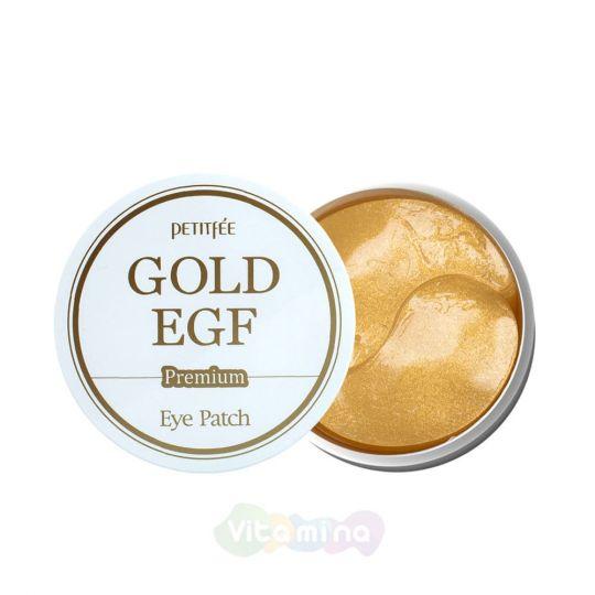 Petitfee Гидрогелевые патчи от морщин вокруг глаз с золотом и EGF Premium Gold & EGF Eye Patch