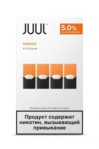 Картридж Juul Labs x4 JUUL Манго (59 мг)