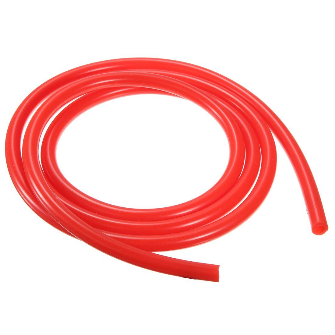 Шланг ПВХ, повышенной жесткости, 10*6 мм, 1 метр, красный