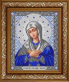 ИС-4049 Славяночка. Пресвятая Богородица Умиление в серебре. А4 (набор 850 рублей)