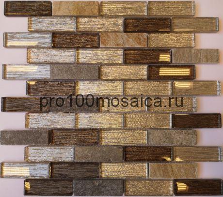 Мозаика Naturelle - Onega 260*298*8 мм (чип 23х73х8 мм)