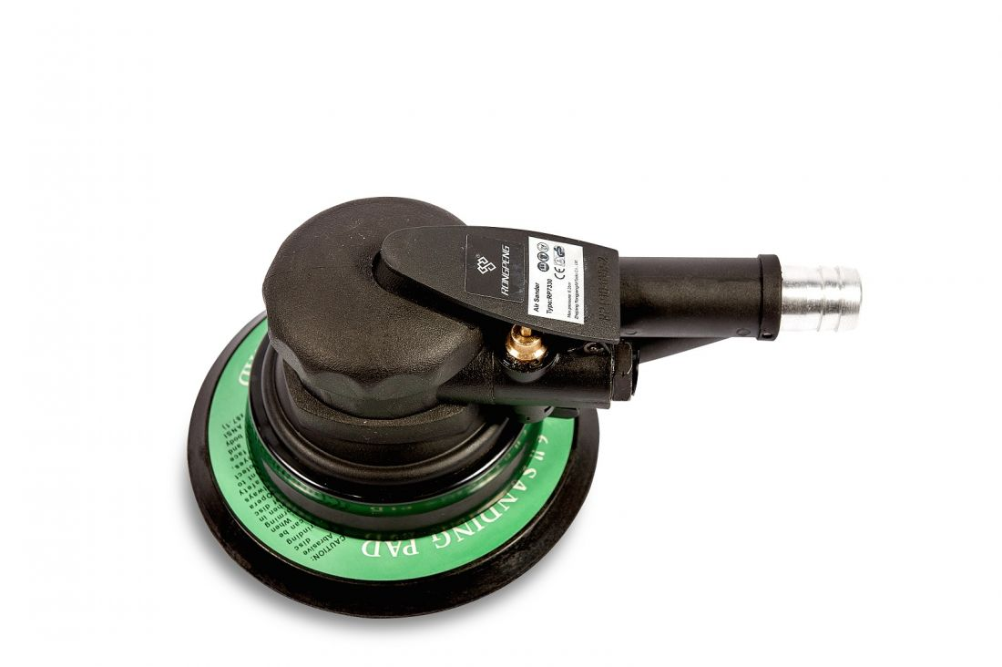 RongPeng Пневматическая шлифовальная машинка, тарелка 6* (150 мм.),с пылеотводным шлангом