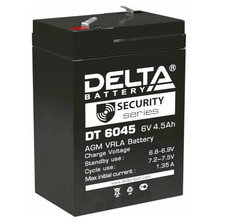 Аккумулятор Delta DT6045 Security series 6V 4.5 Ач