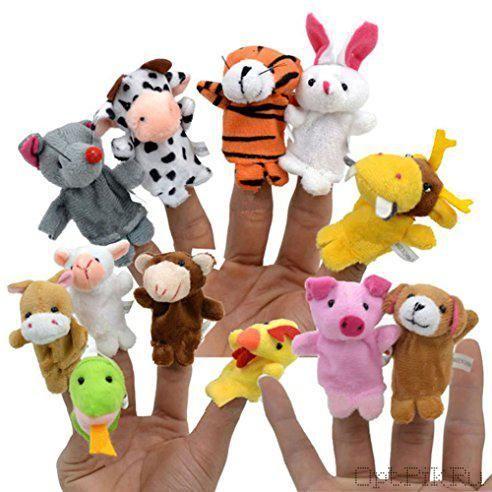 """Набор пальчиковых кукол """"Животные"""" 12 штук"""