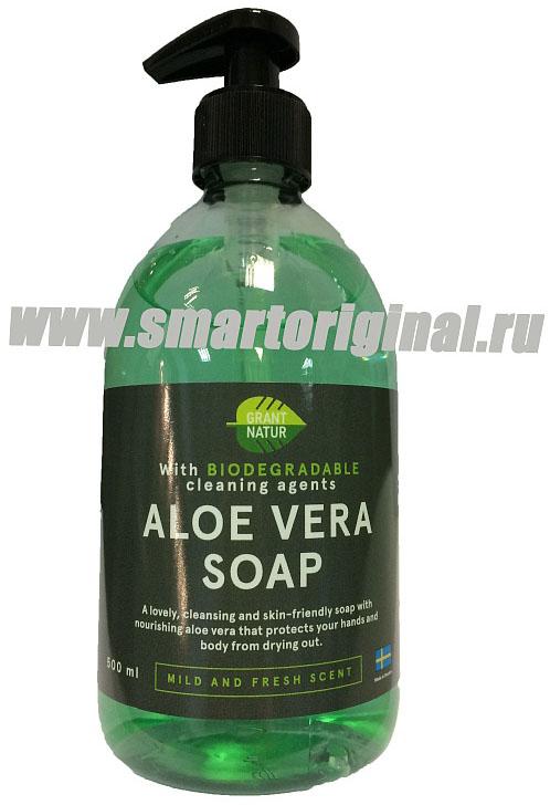 Smart Microfiber Жидкое мыло Алоэ вера серия Грант натур 0,5 л