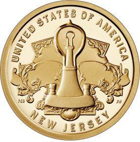 Изобретение Электролампы Нью Джерси 1 доллар США  2019 Инновации Монетный двор на выбор
