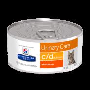 Hill's PD Feline c/d Multicare Диетический корм для профилактики МКБ (конс. 156 г)