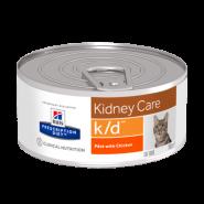 Hill's PD Feline k/d Renal Health Диетический корм при почечной недостаточности (конс. 156 г)