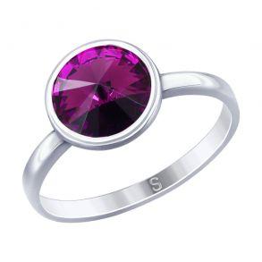 Кольцо из серебра с кристаллом Swarovski 94012600 SOKOLOV