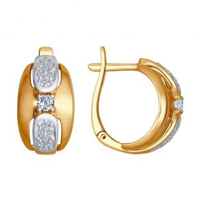 Серьги из золота с бриллиантами 1021158 SOKOLOV