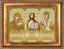 И-3001 Благовест. Триптих с молитвами в золоте. А3 (набор 1450 рублей)