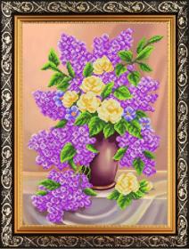 К-3152 Благовест. Сирень и Кремовые Розы. А3 (набор 1275 рублей)