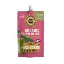 ECO Organic green olive Очищающий скраб для лица 100мл.