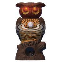 Садовый ультразвуковой отпугиватель вредителей со светодиодной подсветкой Owl Alert (1)