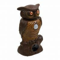 Садовый ультразвуковой отпугиватель вредителей со светодиодной подсветкой Owl Alert (2)