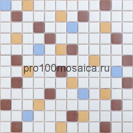 Мозаика из керамогранита неглазурованная с прокрасом в массе Plutone 30х30х0,6 см (чип 23х23х6 мм)