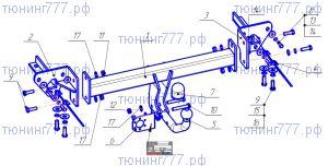 Фаркоп Bosal Oris, крюк на болтах, тяга 1.4т