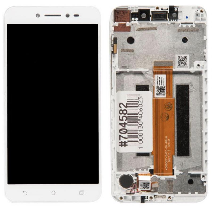 LCD (Дисплей) Asus ZB501KL ZenFone Live (в сборе с тачскрином) (в раме) (white) Оригинал