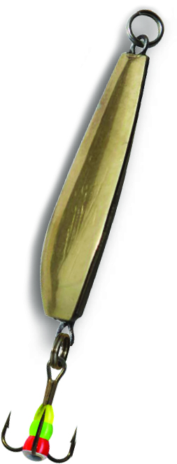 Блесна зимняя SWD ICE PERCH  (35мм, вес 7г, сереб+зол, блист)