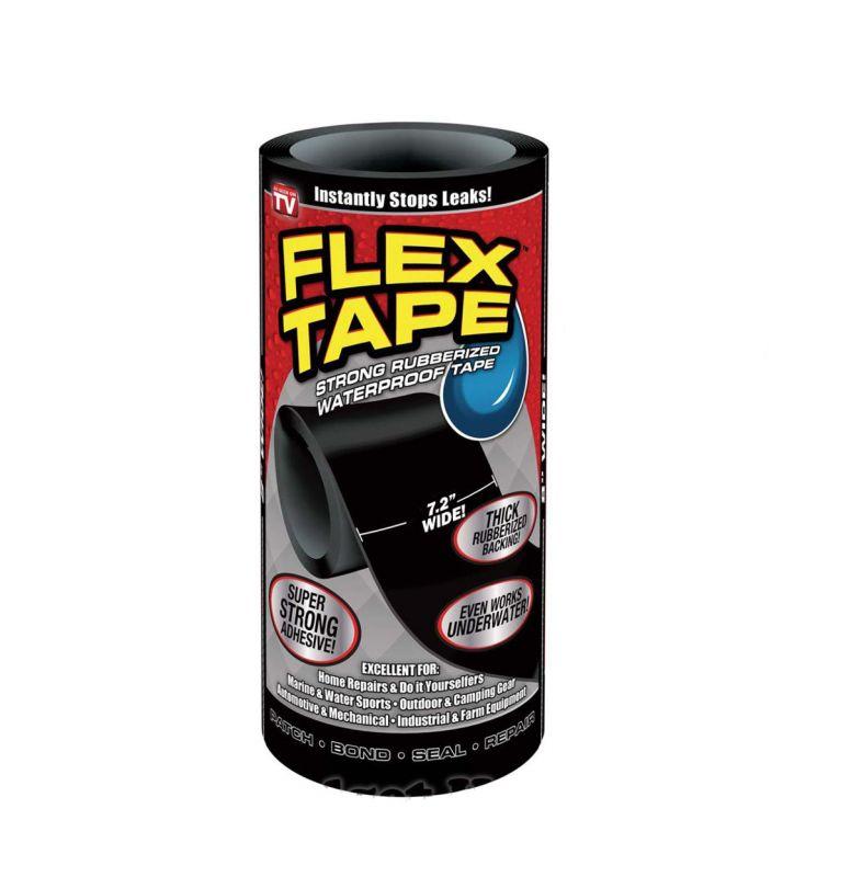 Сверхсильная Клейкая Лента Flex Tape, 18 х150 См, Цвет Черный
