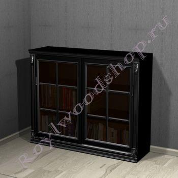 """Книжный шкаф """"Лондон СИТИ-С черный с серебром"""""""