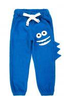 """Флисовые штаны для мальчиков Bonito kids 3-7 лет """"Монстрик"""" синие"""