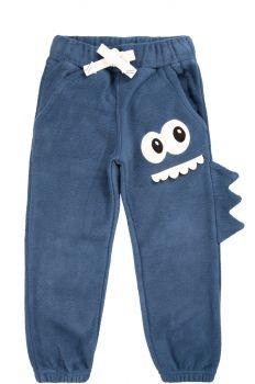 """Флисовые штаны для мальчиков Bonito kids 3-7 лет """"Монстрик"""" индиго"""