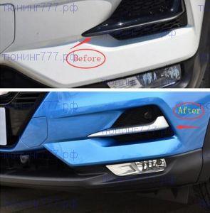 Накладки переднего бампера, хром, а/м с 04.2019-