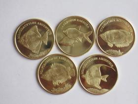 Тропические рыбы Набор Малуку 2019 (5 монет)